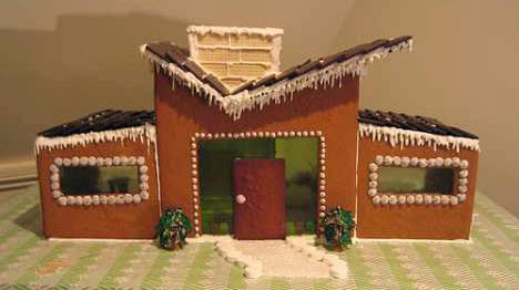 Mid-century-modern-gingerbread-house-retro