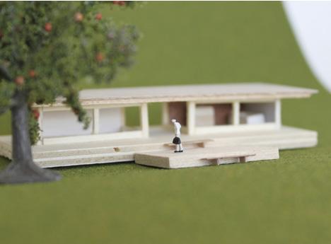 Mid-century-modern-home-minature