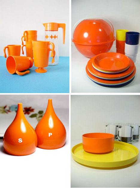 Orange-vintage-kitchen-decor-accessories-1960s-mod