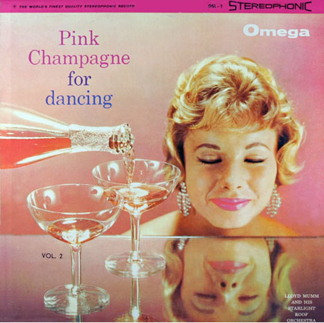 Vintage-pink-champagne-for-dancing-record-album