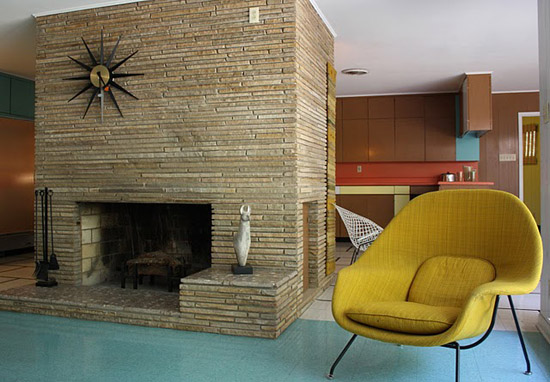 Plastic-wilson-house-texas-formica-laminate-museum-fireplace
