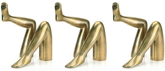 Brass-leg-sculpture