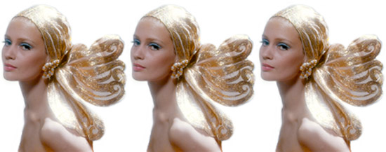 Gold-lame-head-dress-wrap-lady-three-vintage