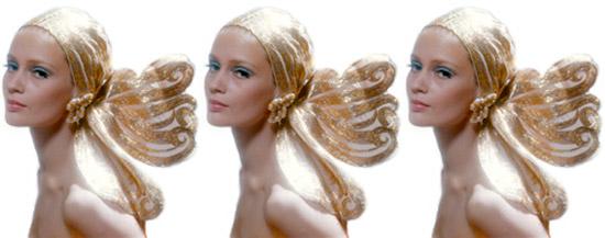 Gold-lame-head-dress-wrap-lady-three-vintage