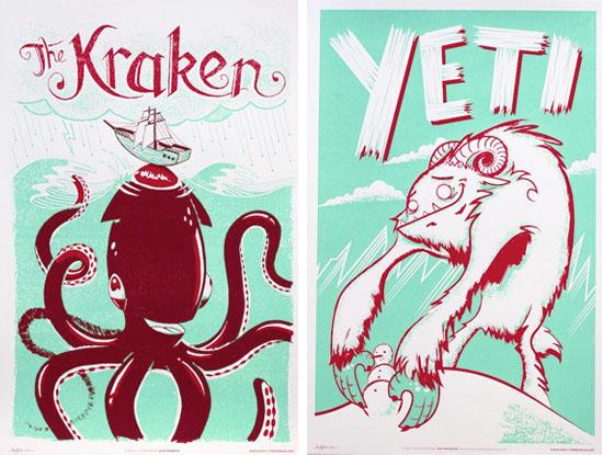 Family-tree-design-yeti-kraken-illustration-print
