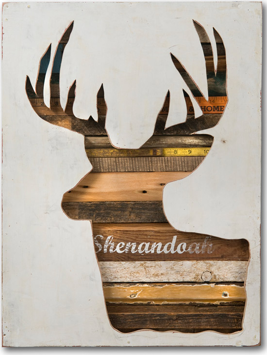 Dolan-geiman-deer-acrylic-salvaged-wood-found-objects-art