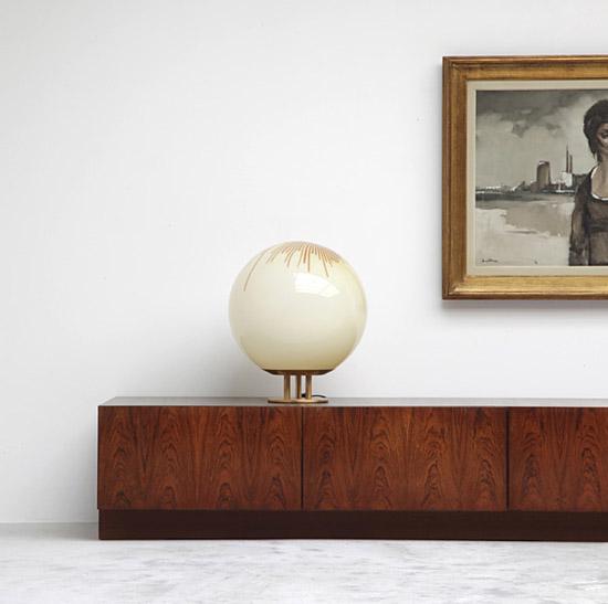 Vintage-low-credenza-La-Murrina-table-floor-round-mid-century-lamp