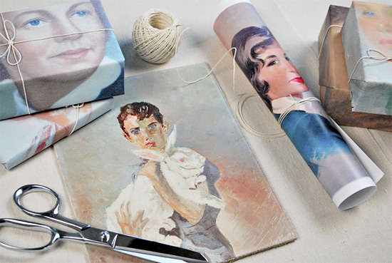 DIY-portrait-wrapping-paper-photocopy-martha-stewart