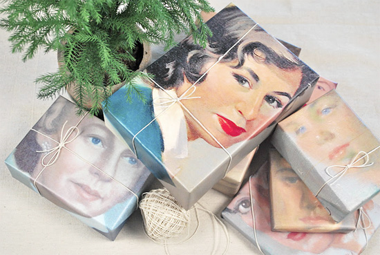 DIY-portrait-wrapping-paper-photocopy-martha-stewart-vintage