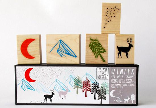 Little-owl-workshop-winter-deer-stamp-set