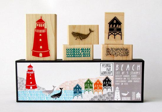 Little-owl-workshop-beach-stamp-set