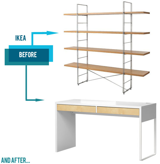 Ikea-ENETRI-shelf-desk-micke-redesign-walnut-wood-contact-paper-hack