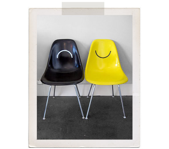 Happy-sad-shell-chairs