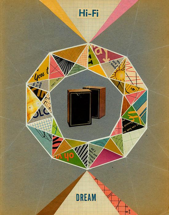 Speakers-hi-fi-music-bill-zindel-art-collage-Giclee-Print