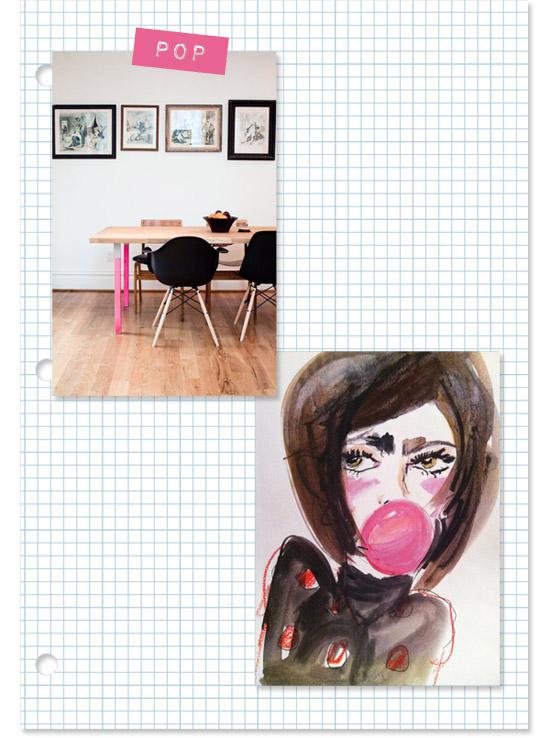 Blair-Breitenstein-bubble-gum-girl-eames-chair-hot-pink