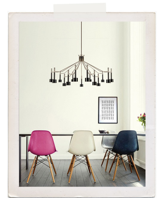 Colored-pink-white-navy-eames-chairs