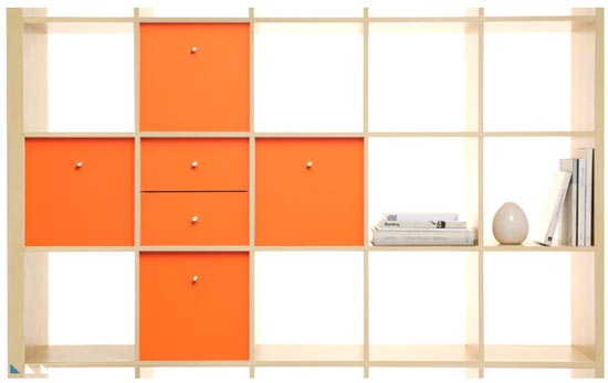 Orange-panel-expedit-customize-ikea-furniture-with-color-vinyl-panyl