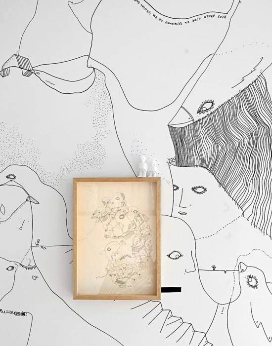 Shantell-Martin-art-wall-illustration-brooklyn-apartment-drawing