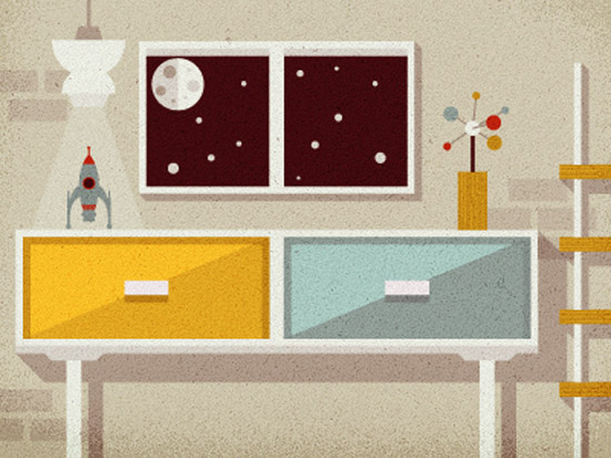 Justin-mezzell-mid-century-space-room-illustration