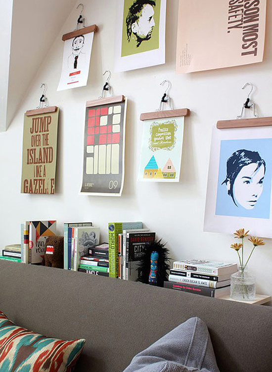 Apartment-theraphy-hanging-wall-art-pant-hangers