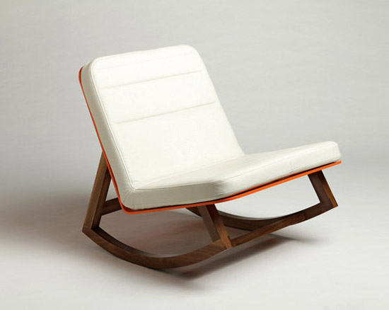 Lagomorph-design-orange-rocking-chair-modern-walnut