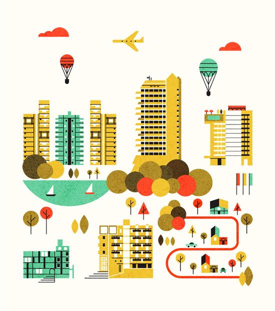 Edward_mcgowan-cityscape-illustration-mid-century-style