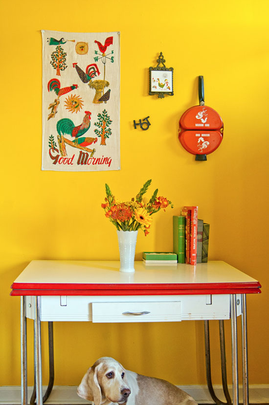 Liz-Cook-press-and-fold-design-vintage-criagslist-apartment-yellow-walls