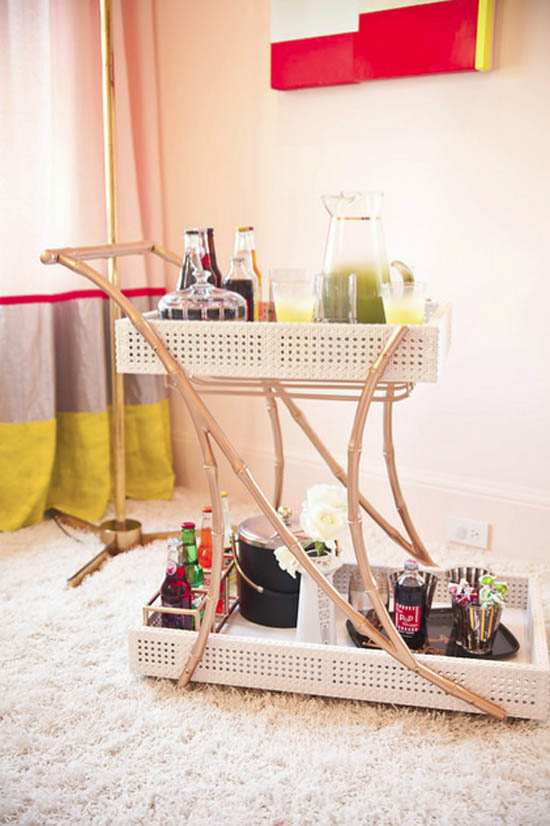 Emily-mughannam-interior-design-shag-rug-bar-cart