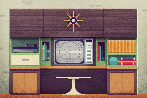 Justin-mezzell-mid-century-televison-illustration