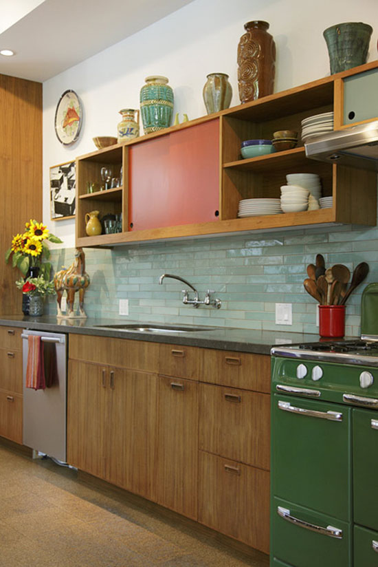 Judy-Kameon-green-stove-modern-vintage-kitchen