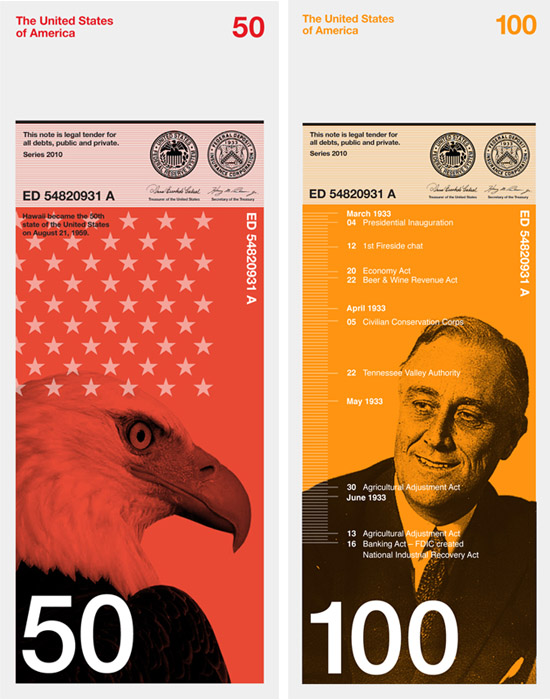 FDR 100 dollar bill Dowling Duncan redesign the US bank notes