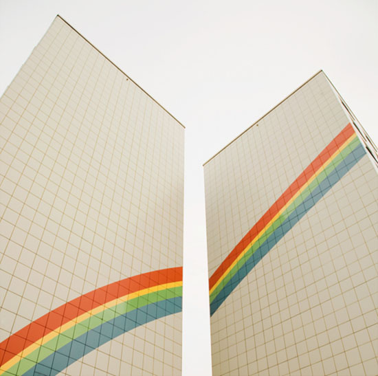 Rainbow building photography by Matthias Heiderich