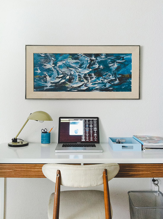 Jonathan Lo Solana Beach mid century office desk photography Dabito