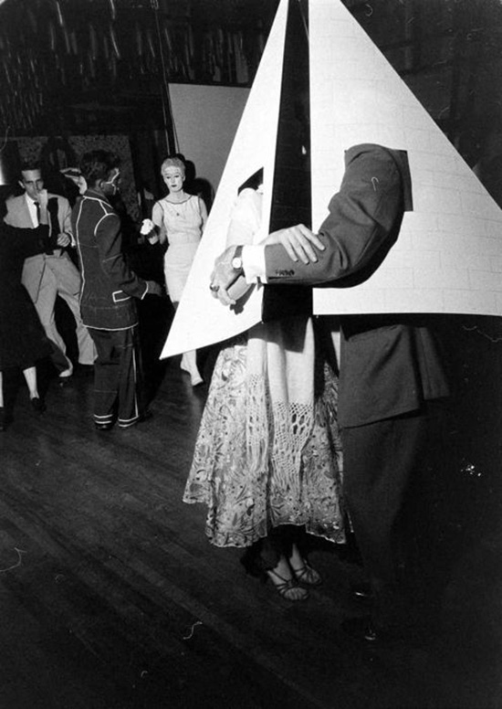 Vintage costume party pyramid