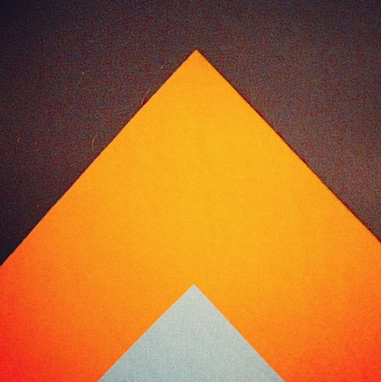 Instagram orange brown graphic colors by Shelby White