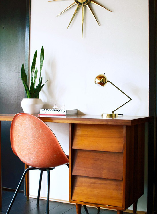 Modern thrifter mid century office desk