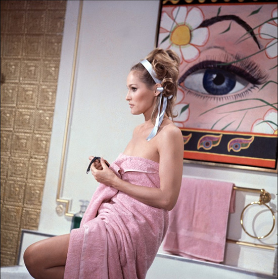 Ursula Andress in Casino Royale Pink bath towel
