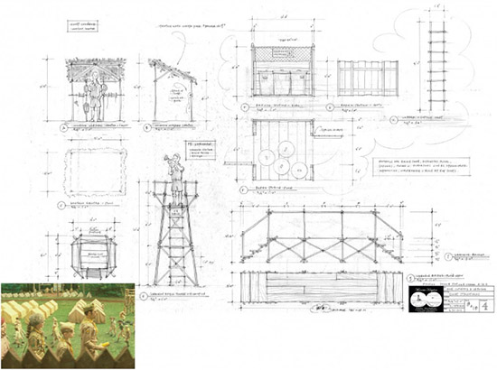 Moonrise Kingdom production design illusration Adam Stockhausen