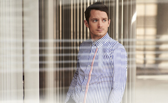 Elijah Wood Mr Porter Mad Men style Gucci shirt