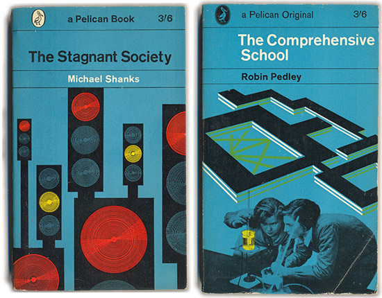 The Pelican Project vintage psychology stagnant society book covers