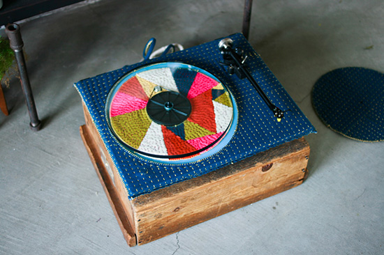 Dabito Old Brand New Adam Pogue Downtown LA loft fabric turntable