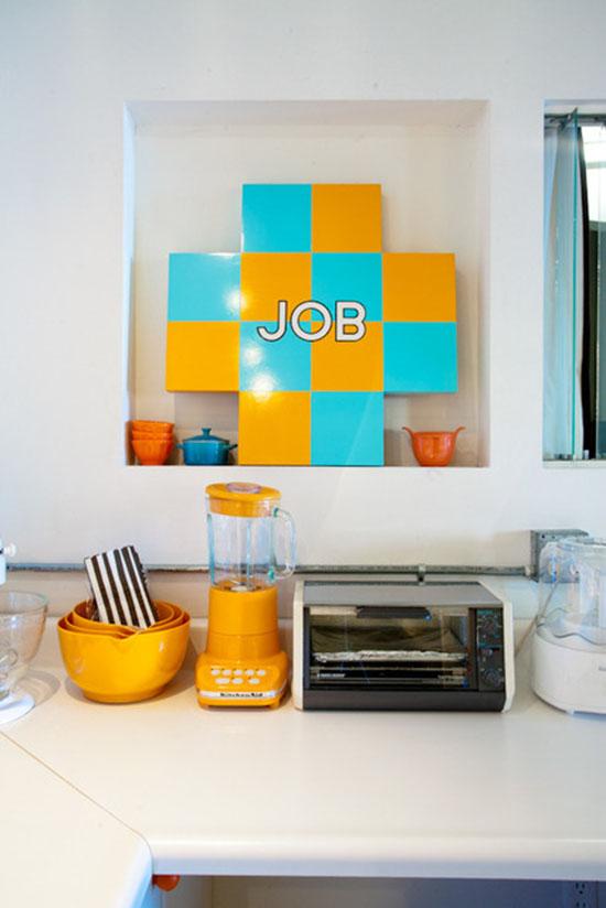 Kelly reemtsen downtown artist loft downtown los angeles orange blender