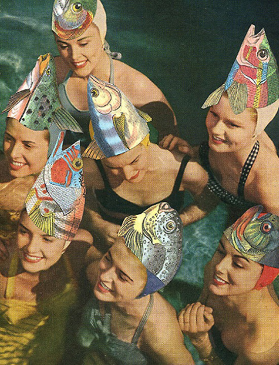 Fish hat swimmers