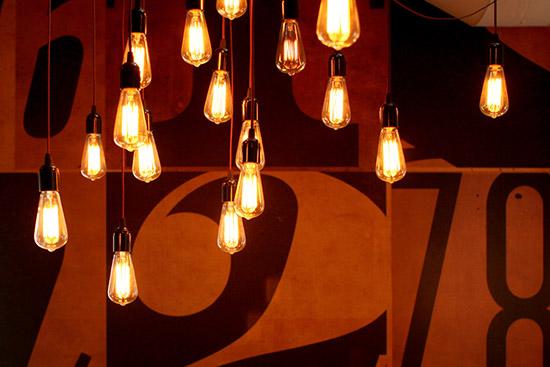 Ty Mattson snd cyn office edison bulb ceiling pendant lamp cluster