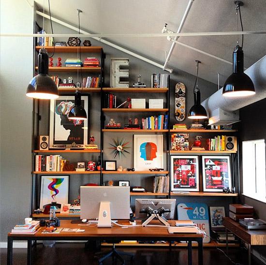 Ty Mattson Irvine California office wall bookshelf