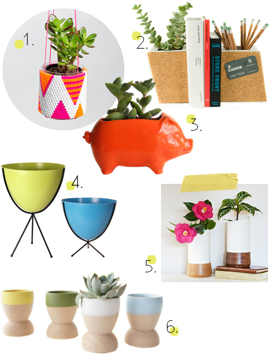 Planters and vessels for succulents air plants