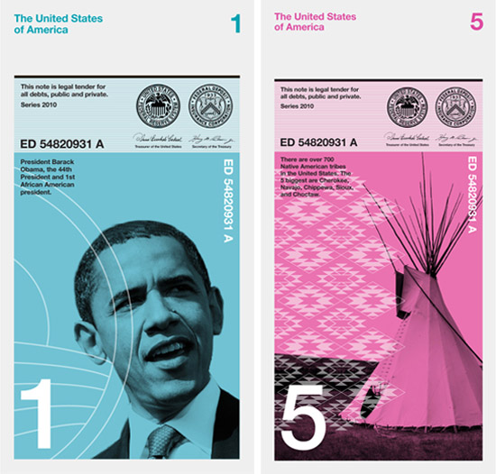 Barack Obama dollar bill Dowling Duncan redesign the US bank notes