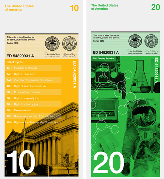 Modern Dowling Duncan redesign the US bank notes