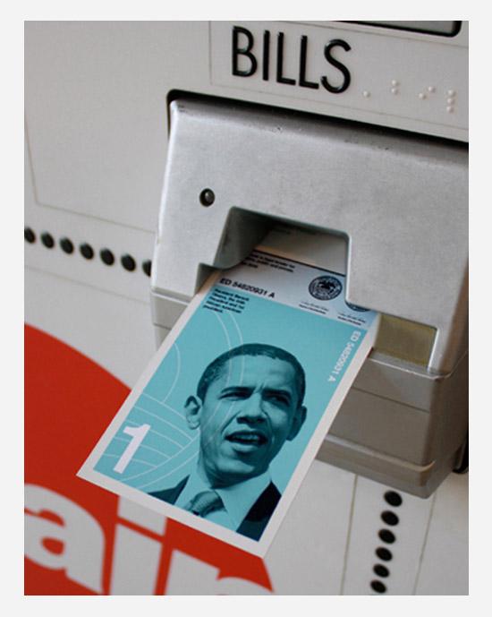 Barack Obama dollar bill Dowling Duncan redesigned US bank notes