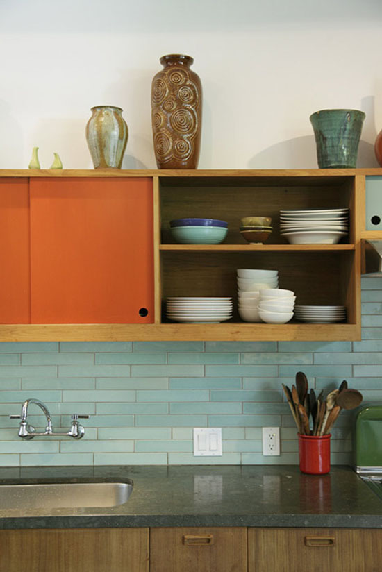 Judy-Kameon-orange-modern-vintage-kitchen